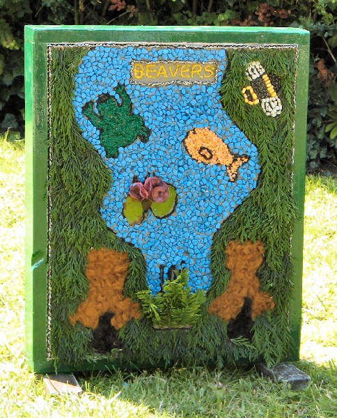 Belper 2011 - Alton Manor Scout Group Well Dressing (2)