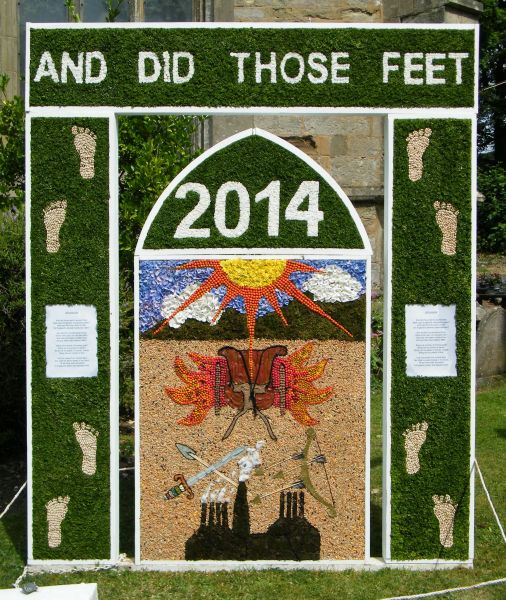Barlborough 2014 - St James' Church Well Dressing