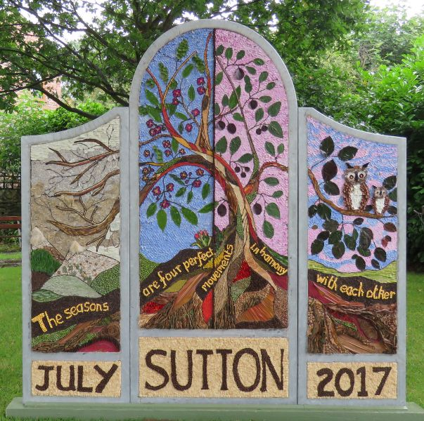Sutton Lane Ends 2017 - The Pleasance Well Dressing