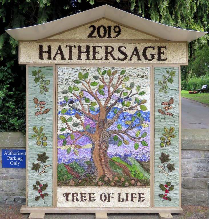 Hathersage 2019 - Methodist Church Well Dressing
